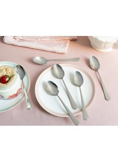 Madame Coco Crown Tatlı Kaşığı 6`li Set Gümüş